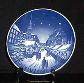 Bareuther 1969 Christmas Plate In Issue Box