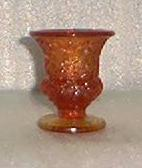 Amberina Smith Glass Toothpick Holder