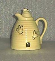 Beehive Shaped Pottery Honey Pitcher