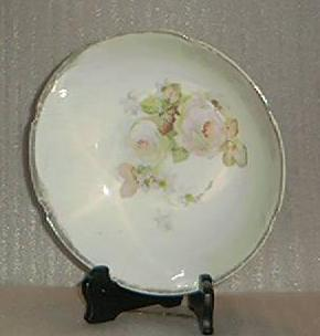 Porcelain Bowl With Rose Transfer Decoration