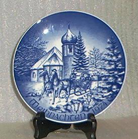 Bareuther Christmas Plate From 1974
