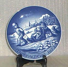 Bareuther Christmas Plate For 1973