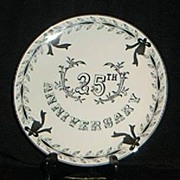 Lefton China 25TH Wedding Anniversary Plate