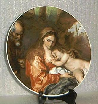 "Bareuther Plate Titled ""The Holy Family"""