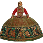 Charming Vintage Tea Cozy Cosy Half Doll British Lady