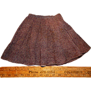 Vintage 1920-1930 Wool Skirt for Composition or Antique Bisque Doll Clothing