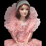 Authentic Vintage Boudoir Bed Doll Small Standard Composition Head Hands Feet Mohair Wig -kk