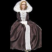 "Authentic Vintage Boudoir Bed Doll ""Anita"" Type Composition Head Human Hair Wig Shoes Clara -kk"