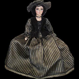 Vintage Boudoir Doll Standard Keeneye Composition Head Arms Shoe/Feet Cloth Body Mohair Gibson -kk