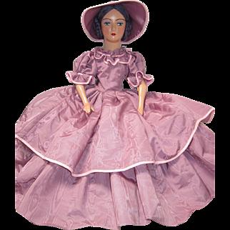 Vintage Boudoir Doll Standard Keeneye Composition Head Arms Shoe/Feet Cloth Body Creole - kk