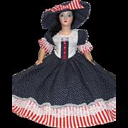 Holiday Boudoir Bed Doll July 4th Patriotic Sm Std compo head plastic limbs BLU-kk