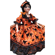 Holiday Boudoir Bed Doll Halloween Sm Std compo head plastic limbs -kk