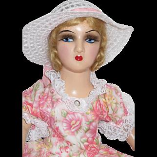 Vintage Standard Boudoir Bed Doll Composition breast plate & limbs - Diana Rose - kk