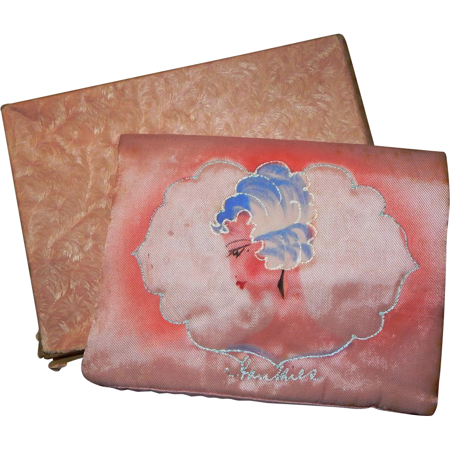 Wonderful Art Deco 1920's Handkerchief Holder Hanky Vanity Boudoir Flapper