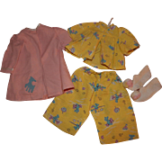 Vintage Terri Lee Doll Pajamas Robe and Slippers