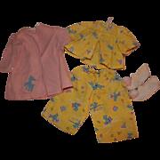 Vintage Terri Lee Doll Pajamas Robe and Slippers