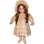 """Lovely Antique Doll DRESS AND HAT Bisque Bebe Poupee Jumeau Steiner Bru 26-28"""""""