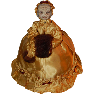 Rare character doll tea cozy cosy lady teapot cover with provenance