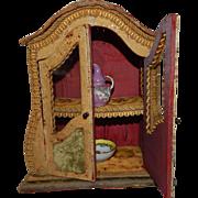 Wonderful French Fashion Doll or Antique Doll Vitrine Cabinet Curio Napoleon III