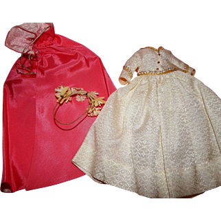 Vintage Madame Alexander Cissette Gown, Cape and Tiara