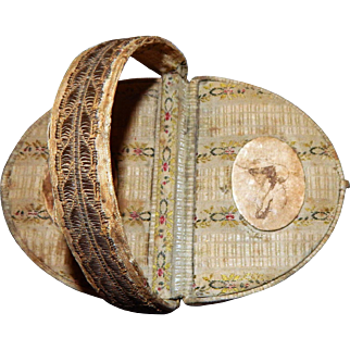 Antique Vintage Victorian Jewelry box trinket travel