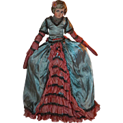 Fabulous Vintage German Cloth Boudoir Doll as Marie Antoinette