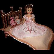 Vintage Madame Alexander Cissette Doll Alexanderkins Watko Brass Bed Furniture- NO DOLL