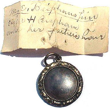FEDERAL American Mourning Locket for Mary & Eleazer Bispham, Cousins of Ralph Waldo Emerson, Provenance, 1830!