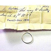 Stuart Posy Ring Given to Sarell Willis by Mary Bispham, Cousin of Ralph Waldo Emerson, Provenance, c.1700/1853!