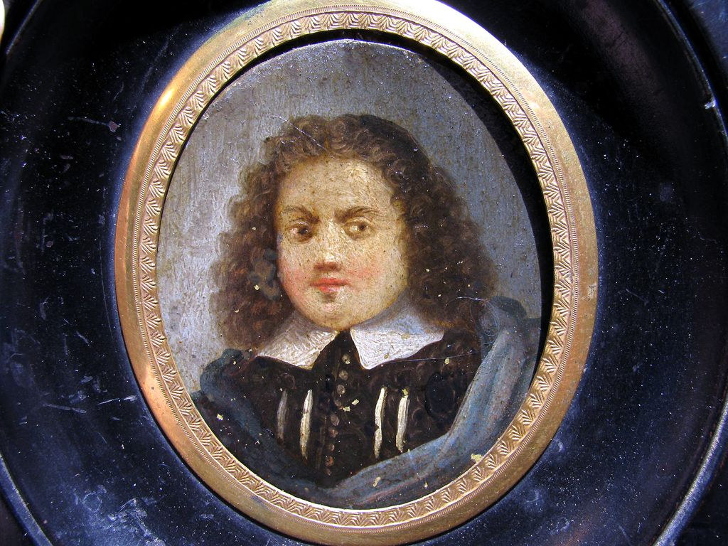 DIVINE French Oil on Copper Portrait Miniature of a Puritan or Huguenot Gentleman, c.1650!