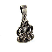 GRACEFUL Georgian Faceted Silver Lyre-Motif Fob Seal/Pendant w/Maker's Mark, c.1830!