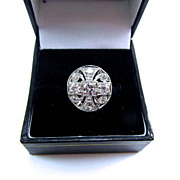 GLAMOROUS Art Deco OEC Diamond/18k WG Dress Ring, 1.33 Ct. TW, w/$4,350.00 GIA Appraisal, c.1925!