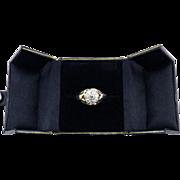 GORGEOUS Unisex 1.25 Ct. OEC TW Edwardian Diamond Cluster Ring in Sterling & 14k Gold, 5.89 Grams, c.1910!