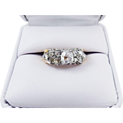 MAGNIFICENT 1.4 Ct. TW Georgian Golconda Rose-Cut Diamonds set in Modern 18k Ring, c.1930!