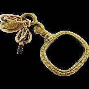 AMAZING Georgian Serpent-Motif Quizzing Glass, Fob Seal and Watch Key Set, 9k/Citrine/Pinchbeck, c.1810!