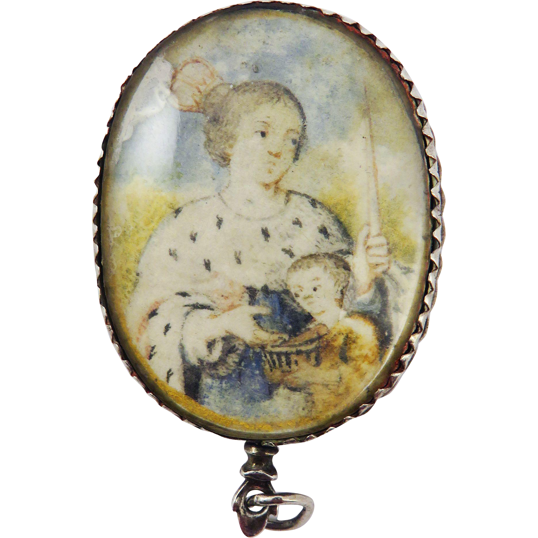 MUSEUM-WORTHY French Renaissance Rock Crystal/Vellum/Silver Double-Sided Reliquary Pendant w/5 Relics, c.1350/1600!