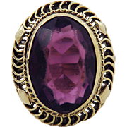 DAZZLING Late Victorian 6.82 Ct. Siberian Amethyst/14k Ring, 5.26 Grams, c.1895!