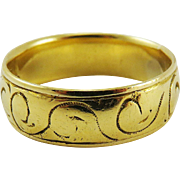 RAREST Unisex Stuart Scottish 22k Wedding Ring, Marked by John Lawe of Glasgow, 5.96 Grams, c.1665!