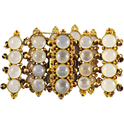 MAGNIFICENT 66 Ct. TW Late Georgian Chalcedony/Pinchbeck Bracelet, c.1825!