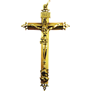 MASTERPIECE Unisex Early Spanish 22k Pectoral Cross Pendant, 15.12 Grams, c.1610!