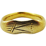 MUSEUM-WORTHY Unisex Ancient Romano-Celtic 22k Sandal-Motif Ring, 6.18 Grams, c.150 AD!