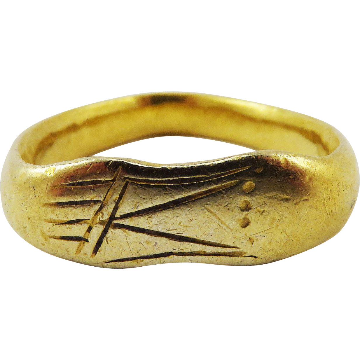 MUSEUM-WORTHY Unisex Ancient Romano-Celtic 22k Sandal-Motif Ring, 6.18 Grams, c.150 AD!