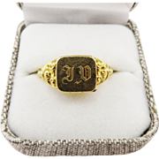 MASTERPIECE French Unisex 18k Vinaigrette Ring, c.1830!