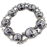 MINT-CONDITION Pre-Revolutionary Russian Silver/Niello Bracelet, Fully Signed, c.1910!