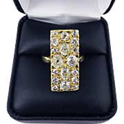 SHOW-STOPPING French Victorian 2.71 Ct. TW OMC Diamond/18k Ring w/$8,300.00 GIA Appraisal, c.1890!