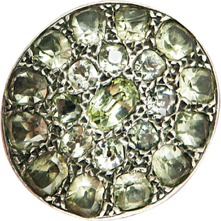 IMPORTANT 8.32 Ct. TW Georgian-Era Portuguese Chrysoberyl/Sterling Ring, c.1785!