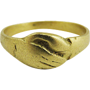 "MUSEUM-WORTHY Unisex Medieval 22k Gold ""Fede"" Lover's Ring, c.1425!"