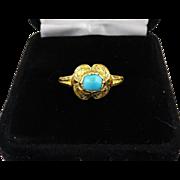 MASTERPIECE Tudor Turquoise/22k/Enamel Ring w/Reference, c.1550!