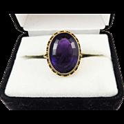DELICIOUS 12.19 Ct. Siberian Amethyst/9k Ring, Full Hallmarks & Maker's Mark, c.1897!