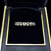 HIGHLY RARE Georgian White  Paste/Sterling/9k Eternity Ring, c.1800!